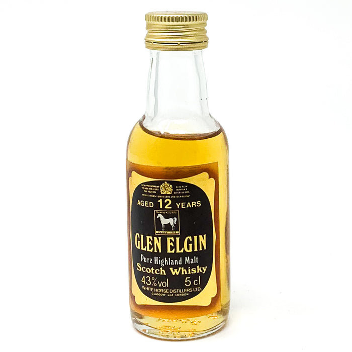Glen Elgin 12 Year Old Pure Highland Malt Scotch Whisky, Miniature, 5cl, 43% ABV