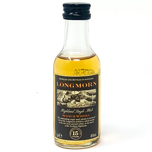 Longmorn 15 Year Old Highland Single Malt Scotch Whisky, Miniature, 5cl, 45% ABV