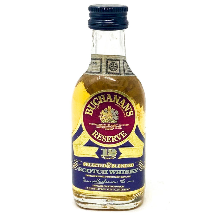 Buchanan's 12 Year Old Reserve Scotch Whisky, Miniature, 5cl, 40% ABV