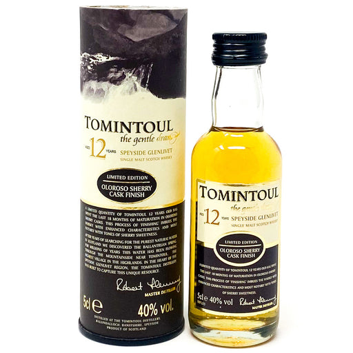 Tomintoul 12 Year Old Scotch Whisky, Miniature, 5cl, 40% ABV