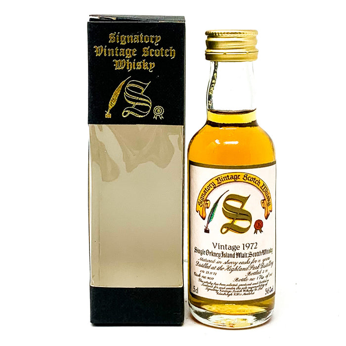 Highland Park 1972 15 Year Old Signatory Vintage Scotch Whisky, Miniature, 5cl, 56% ABV