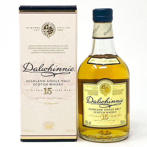 Dalwhinnie 15 Year Old Scotch Whisky, 20cl, 43% ABV