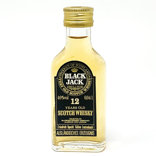 Black Jack 12 Year Old Scotch Whisky, Miniature, 4.1cl, 40% ABV