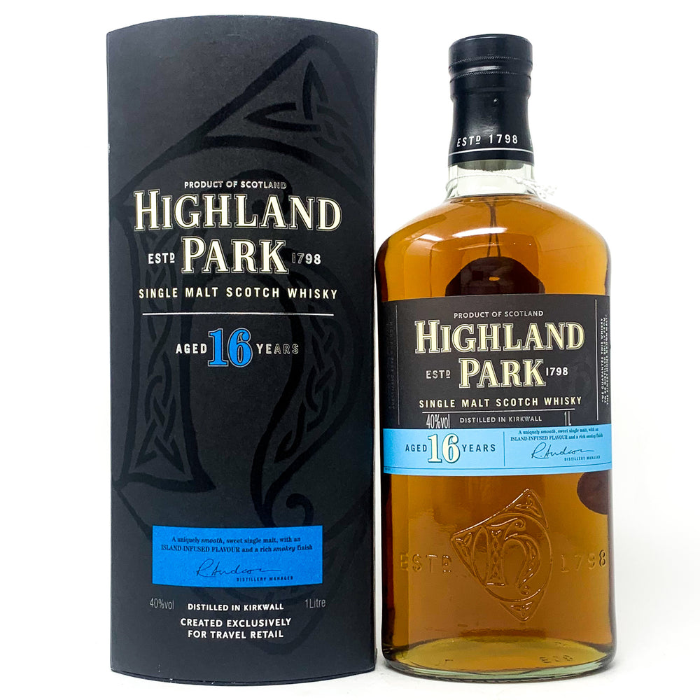 Highland Park 16 Year Old Scotch Whisky, 1L, 40% ABV