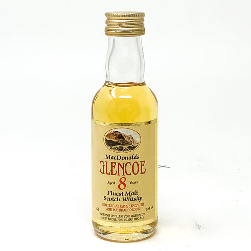 MacDonald's Glencoe 8 Year Old Scotch Whisky, Miniature, 5cl, 58% ABV