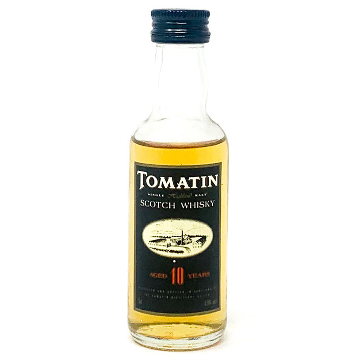 Tomatin 10 Year Old Single Malt Scotch Whisky, Miniature, 5cl, 43% ABV