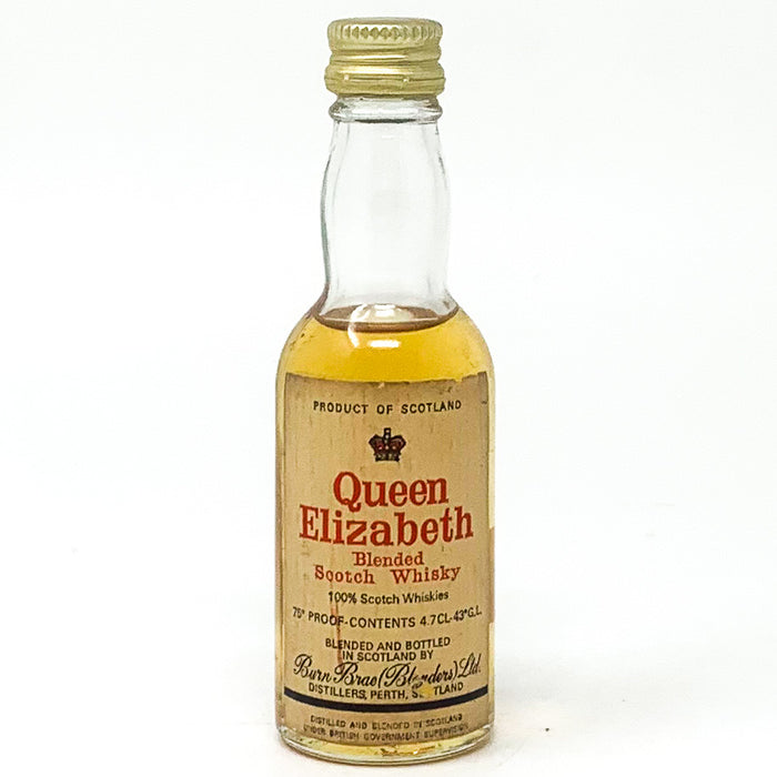 Queen Elizabeth Blended Scotch Whisky, Miniature, 4.7cl, 35% ABV