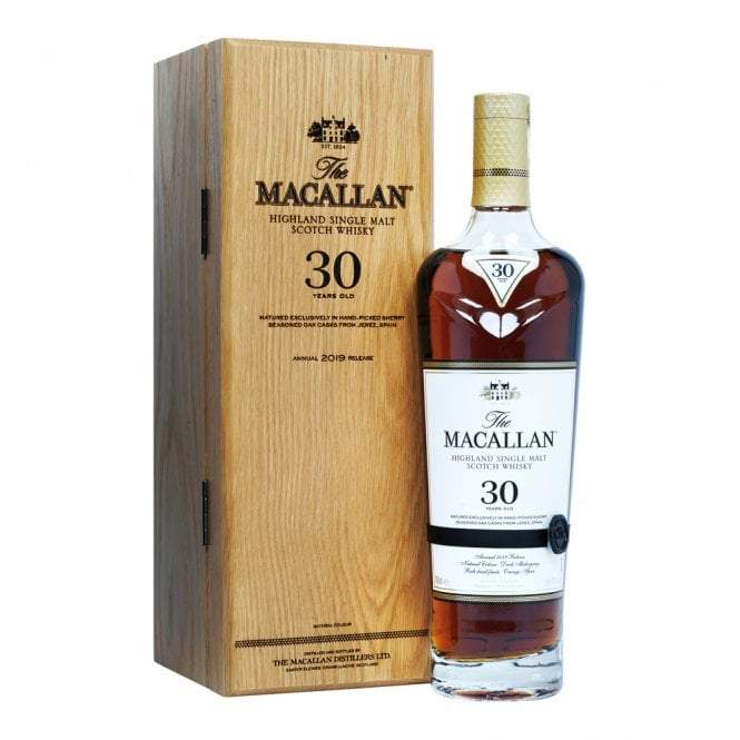 Macallan 30 Year Old Sherry Oak 2019 Release Whisky Old and Rare Whisky