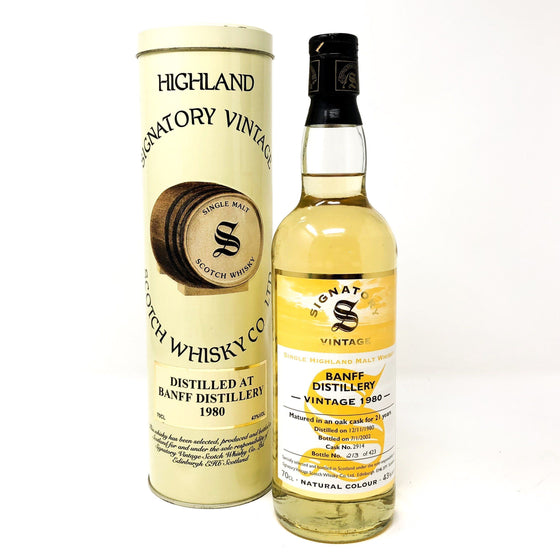 Banff 21 Year Old Vintage 1980 Signatory Whisky Old and Rare Whisky