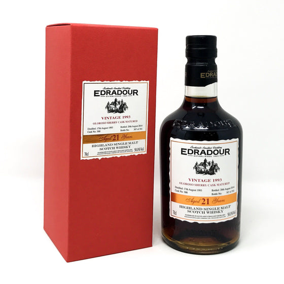 Whisky - Edradour 21 Year Old 1993 Oloroso Cask