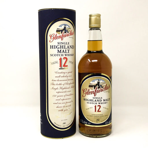 Glenfarclas 12 Year Old (Old Style) 1 Litre Whisky Old and Rare Whisky