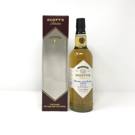 Highland Park 1977 Scott's Selection Cask Strength Whisky Old and Rare Whisky