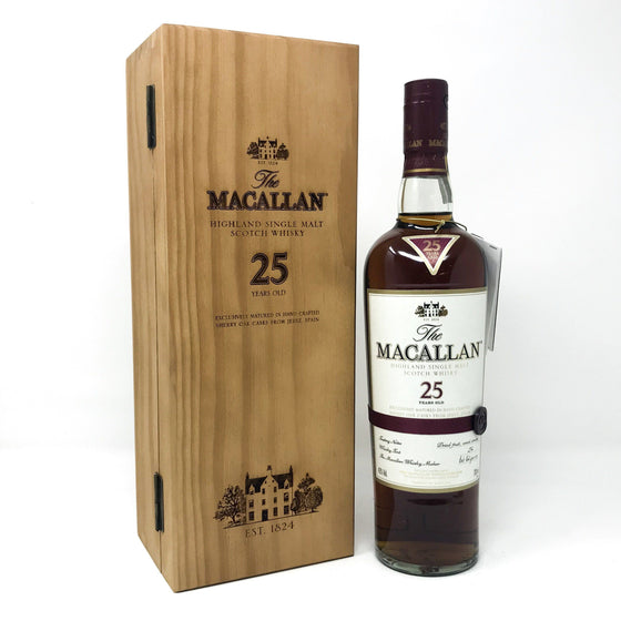 Macallan 25 Year Old Sherry Wood Whisky Old and Rare Whisky