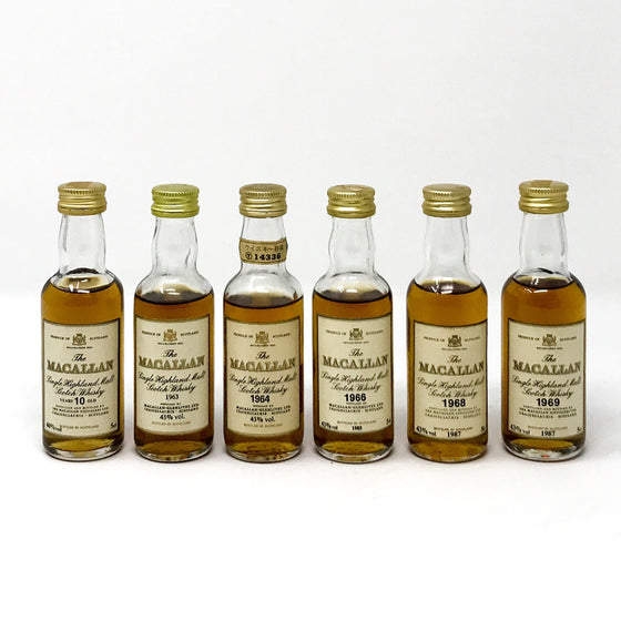 Whisky - Macallan Miniatures X 6 1960s