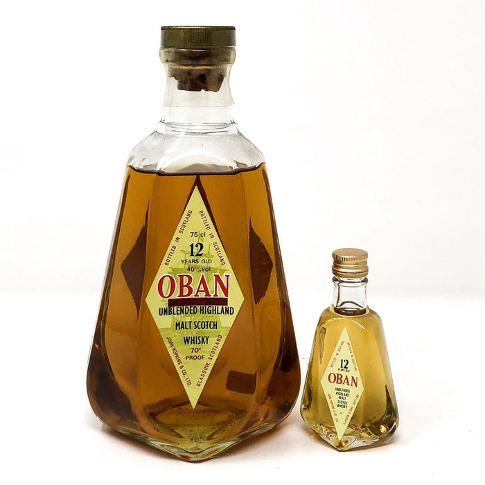 Oban 12 Year Old 1970s with Miniature Whisky Old and Rare Whisky