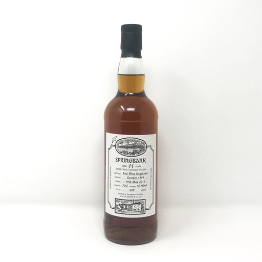 Springbank 11 Red Wine Finish Whisky Old and Rare Whisky