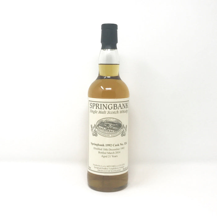 Springbank 21 Year Old Single Cask Whisky Old and Rare Whisky