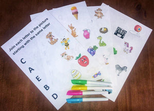 NEW!!!! Alphabet Picture Match Learning Pack