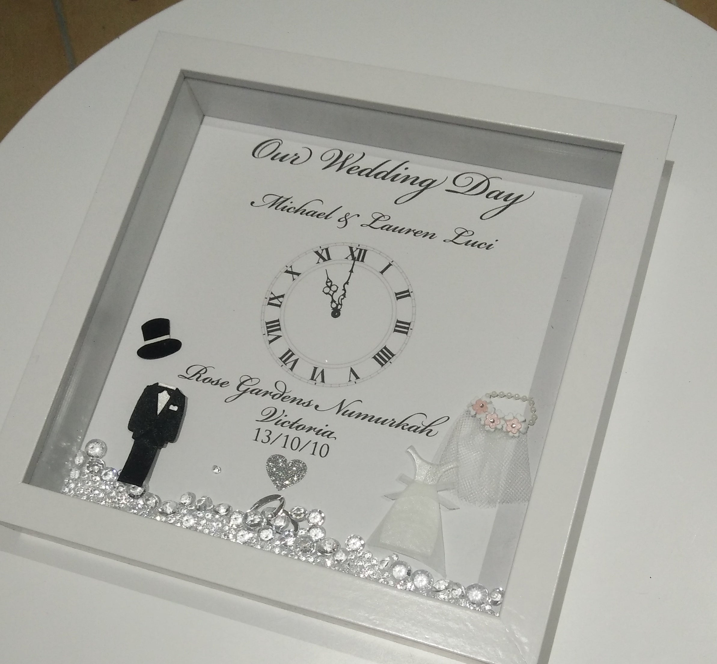 Wedding Shadow Box frames