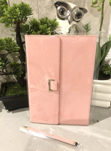 Personalised Notebook and Pen - Pink