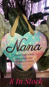 Coloured Plaque - Nana