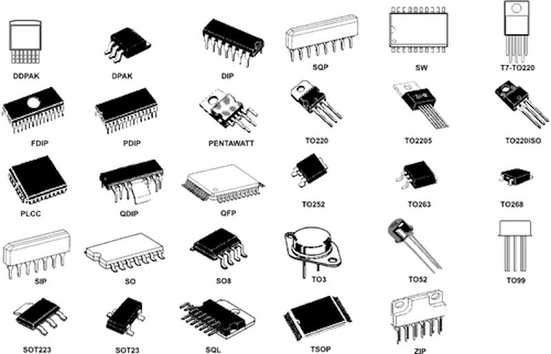 SMD/SMT Component Packages: sizes, dimensions | Buy Online