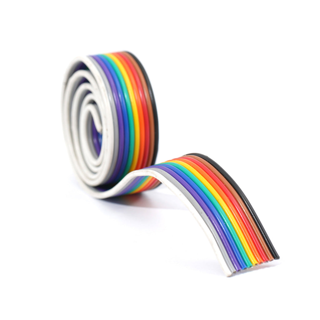 10 WIRE FLAT RIBBON CABLE 14/36 23 AWG 1 Meter