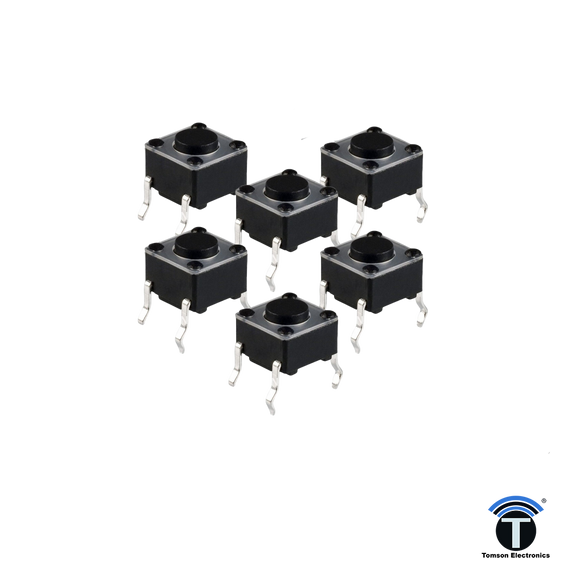 Micro Switch 6mmX6mmX6mm (Pack of 5)
