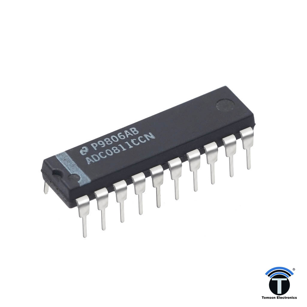 The ADC0811 is an 8-Bit successive approximation A/D converter with simultaneous serial I/O.
