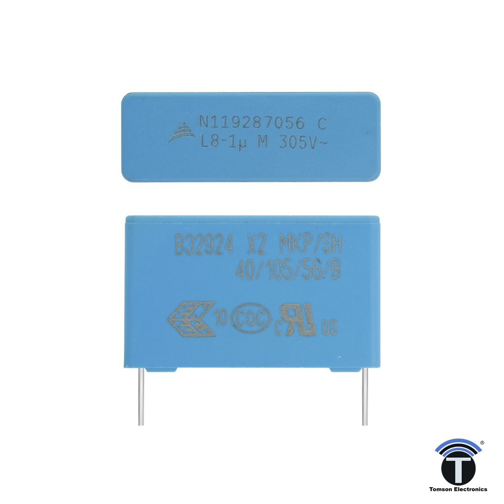 1uF 305V AC MKP X2 Metallized Polypropylene Film Capacitor
