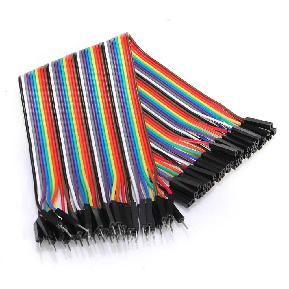 Male to Female Jumper Wires 40 Pcs