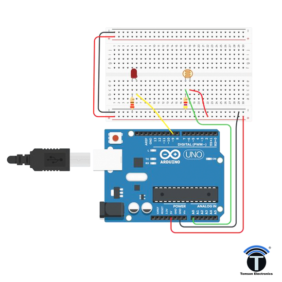 LIGHT SENSOR WITH ARDUINO DIY KIT