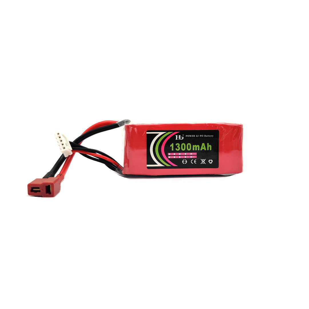 11.1V 1300mAH 4S 25C Lithium Polymer Battery Pack (Lipo) Tomson Electronics
