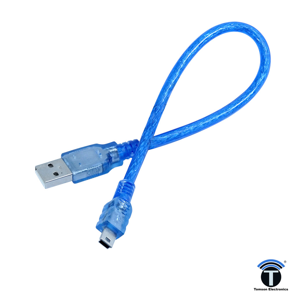 USB CABLE MINI FOR ARDUINO NANO (USB-A TO USB-MINI B)