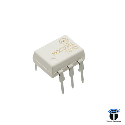 The MOC3041 is a Zero-Crossing TRIAC driven Optocoupler.