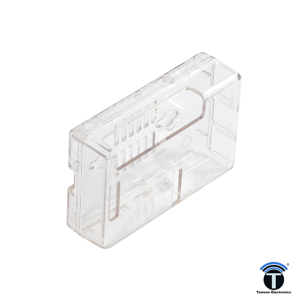 RASPBERRY PI-4 CASE-ACRYLIC CLEAR