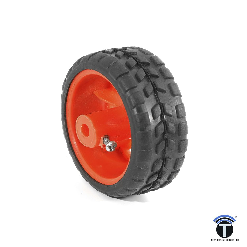 Robotic Wheel Red With Bolt 6.5CM X 2.75CM