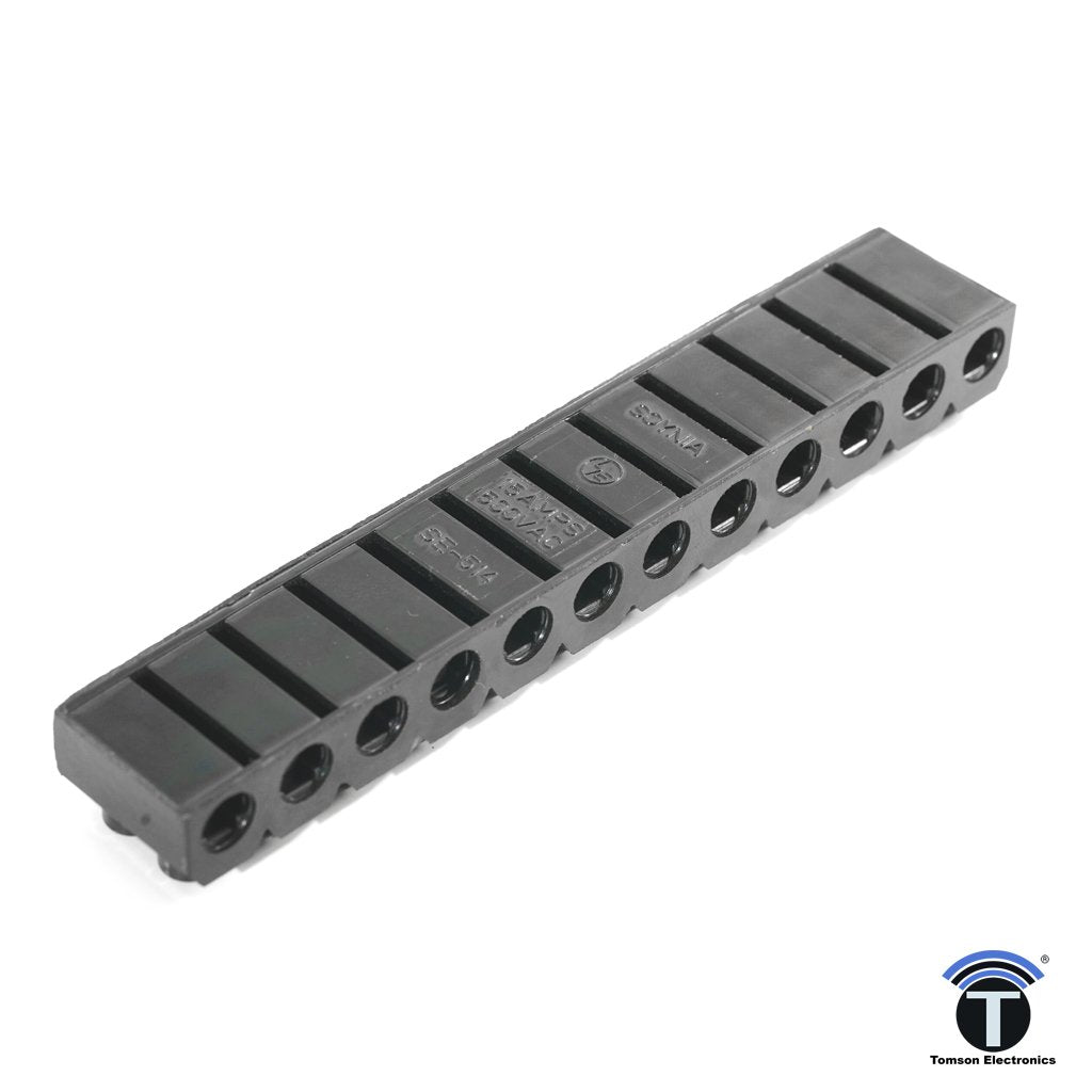 SE514 Terminal Strip 15A Bakelite 12 Way
