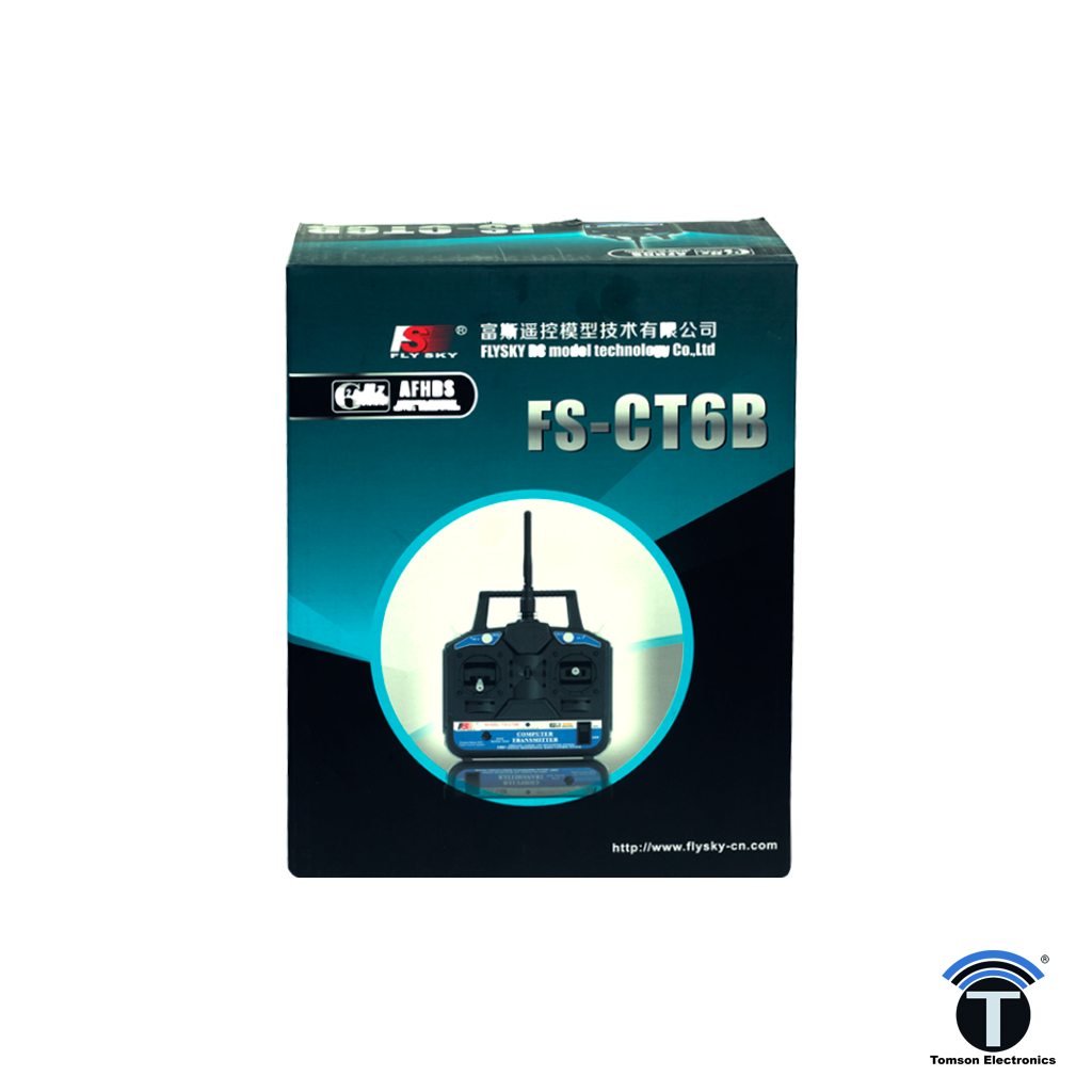 Flysky CT6B 6 Channel Trasmitter Radio With FS-R6B