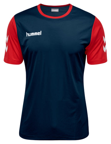 Hummel Core Hybrid Match S/S - Marine / True Red