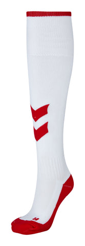 Hummel Fundamental Socks - White / True Red