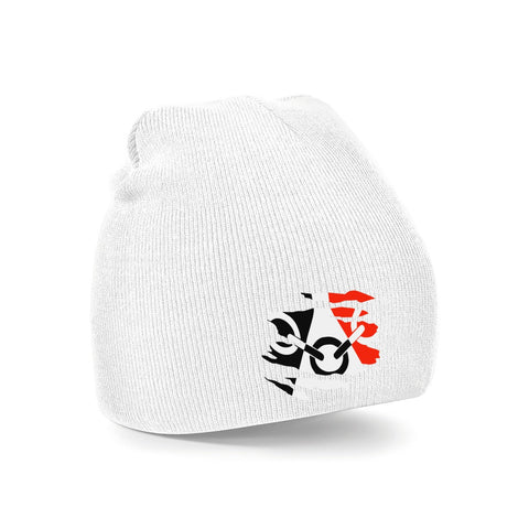 Black Country Beanie - White