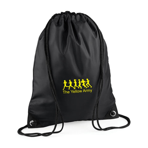 Yellow Army Draw String Bag