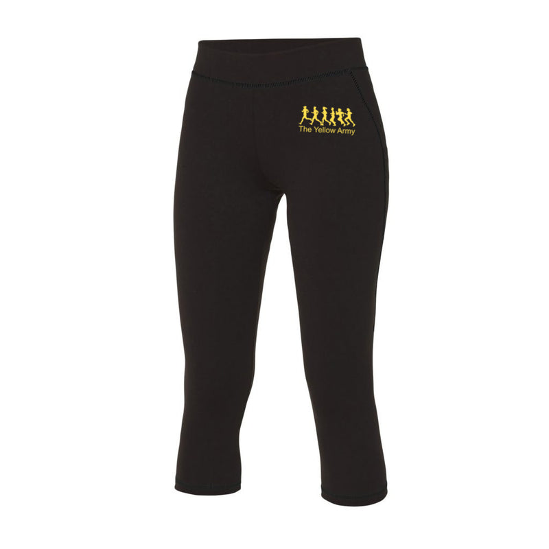 Ladies Yellow Army Capri Leggings [YA]