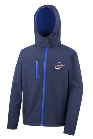 SCC Ladies Navy Soft Shell Coat
