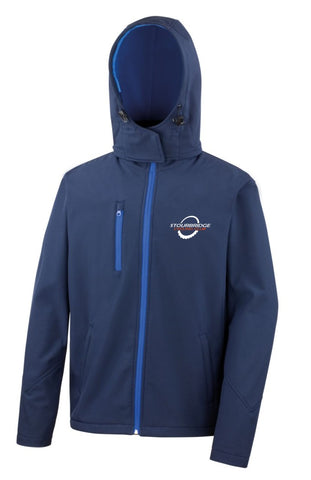 SCC Mens Navy Soft Shell Coat