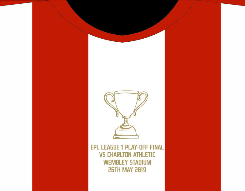 Sunderland AFC Play Off Final Iron On Motif Transfer - Gold