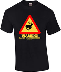 Men's Warning Stag Do T-Shirt