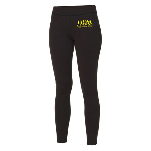 Ladies Yellow Army Full Length Leggings