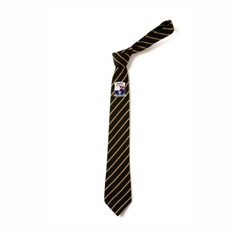 Avery FC Black/Yellow Stripped Tie